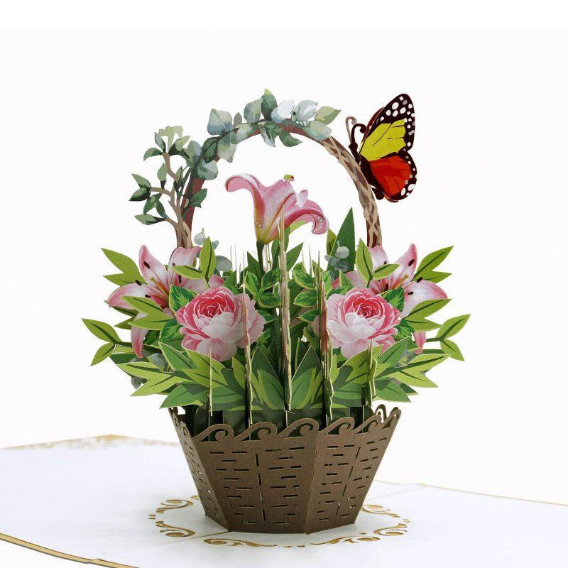 3D flower pop-up card