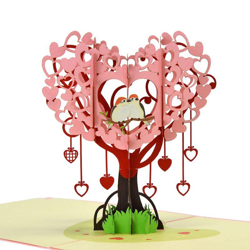 thiệp 3D valentine